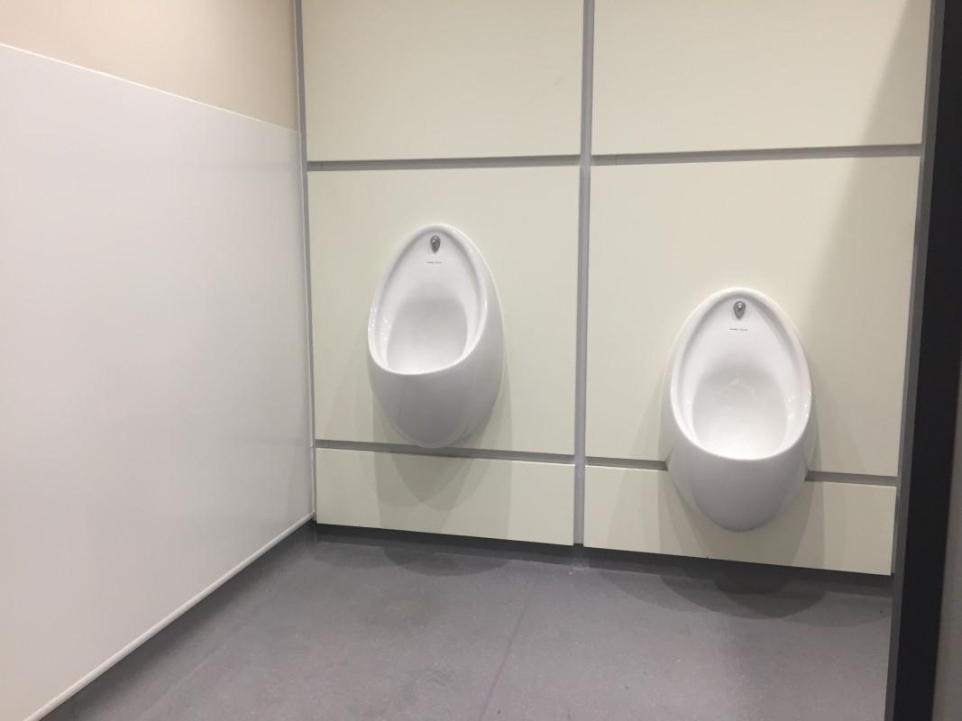 Image of refurbished mens toilets